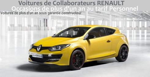 Annonces des occasions de Collaborateurs RENAULT
